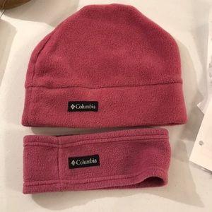 Womens fleece Columbia hat and head band